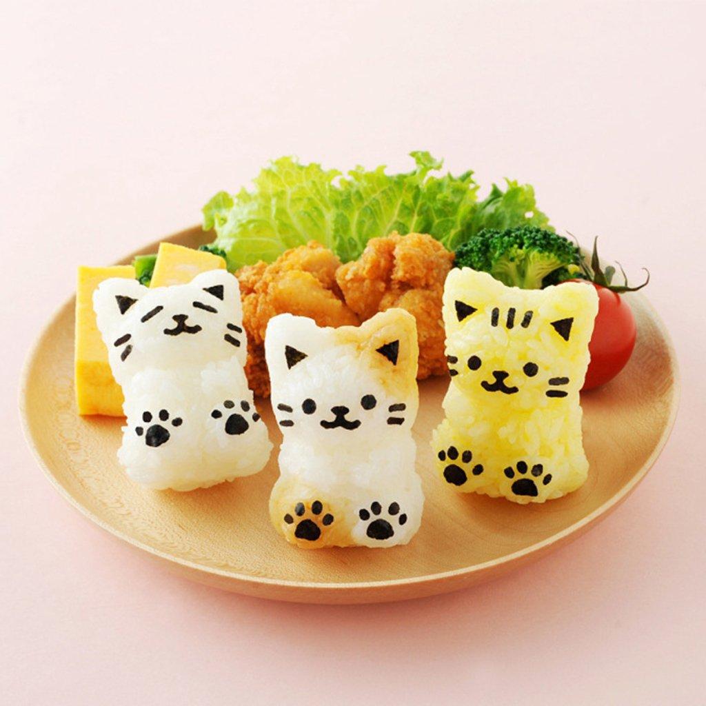 herramienta de cocina para gatos Guoyy 1 juego de cortador de rollo de papel para hacer sushi y arroz f/ácil de Onigiri