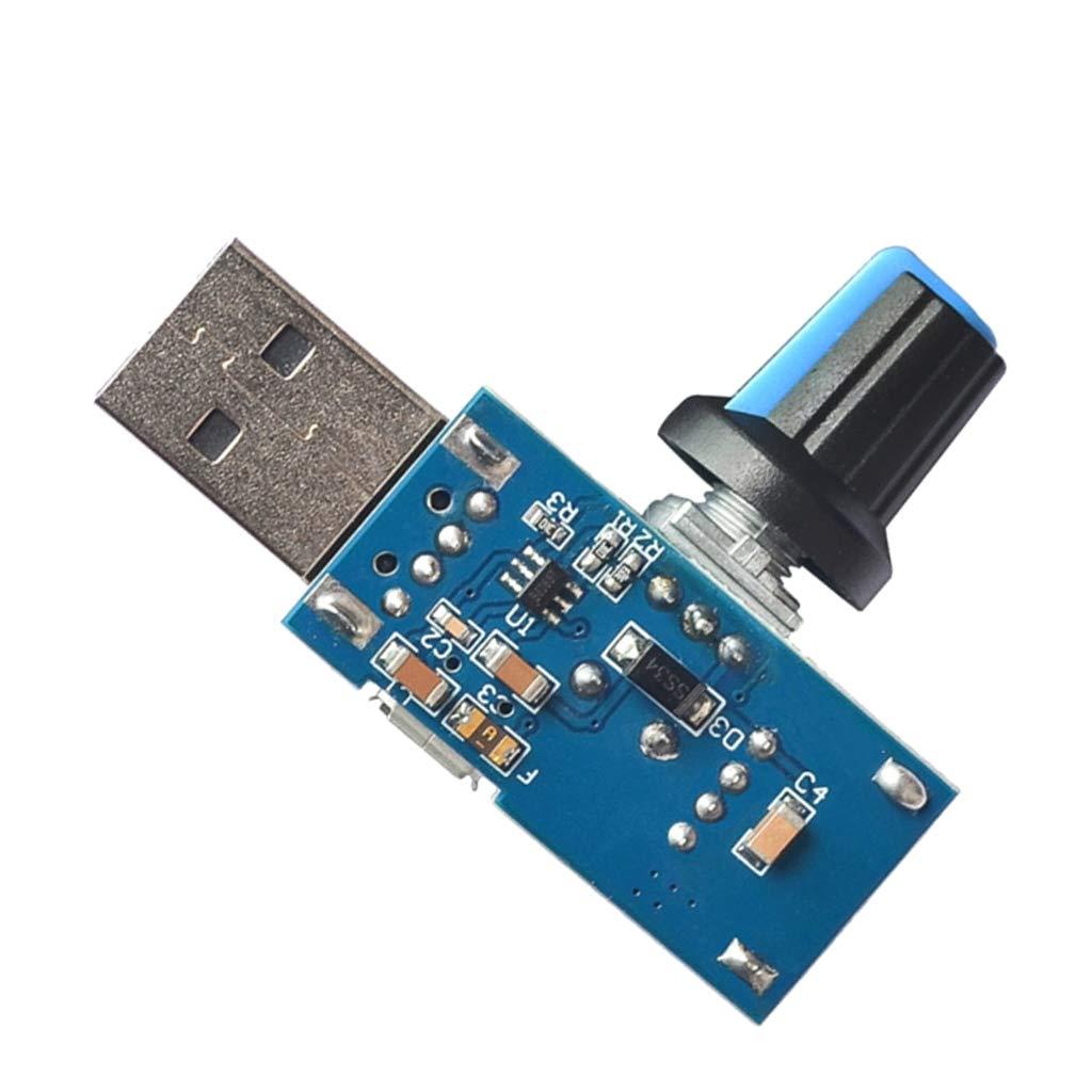 Regler F/ür USB-L/üfter FLAMEER Universal L/üftergeschwindigkeitsregler Mit USB-Ausgang