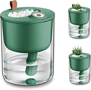 DCMEKA Office Humidifier for Desk, [Newest Updated Version] USB Cool Mist Humidifier Personal Humidifier, Quiet Desk Humidifiers for Bedroom Home Baby Office, Timed Auto Shut-Off, 320ml (Retro Green)