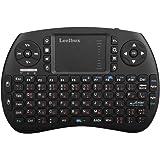 (Sonderangebotswoche)Mini drahtlose Tastatur mit Touchpad Maus Leelbox 2,4Ghz mini wireless Keyboard Mini usb Tastatur geeignet für alle Gerät was mit USB Port(deutschem Tastaturlayout)