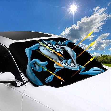 ngwanxinqu Looney Tunes Tasmanian Devil Taz Windschutzscheibe Schneedecke Nicht mehr kratzen Auto passt die meisten Auto 57.9 x46.5