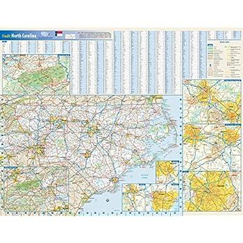 Amazon.com : North Carolina County Map - Laminated (36\