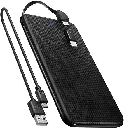 Spigen 5,000mAh Externer Akku [Eingebautes Micro USB Kabel