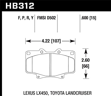 Hawk HPS Disc Brake Pads HB312F.591
