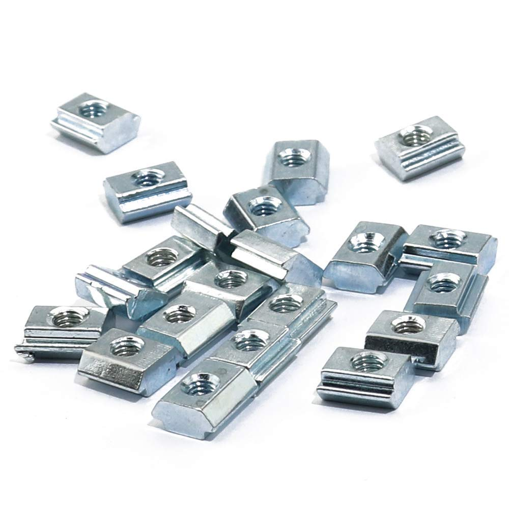 Pack of 60 Drop in Nut for 2020 Sereis Aluminum Extrusion Profile Slot 6mm HOBBYMATE M3 Slide in T Nut
