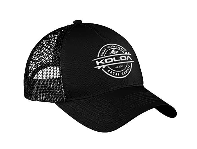 c58937cf537 Joe s USA Koloa Surf Thruster Logo Old School Curved Bill Mesh Snapback Hat- Black w at Amazon Men s Clothing store