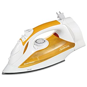 Sunbeam Steam Master professional 1200 Watt Large-size Anti-Drip Non-Stick Soleplate Iron