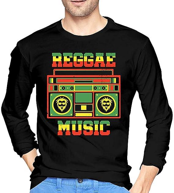 Ljkhas2329 Reggae Music Rasta Mens Long Sleeve T-Shirts, Long ...