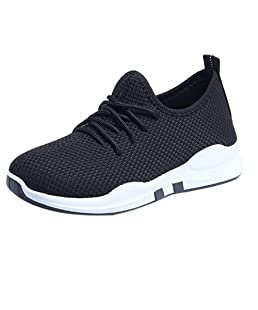 Ninasill Combat Boots Women Running Shoes Lace Up Flat Fitness Gym Sports Shoes Casual Shoes(Black,US : 7)