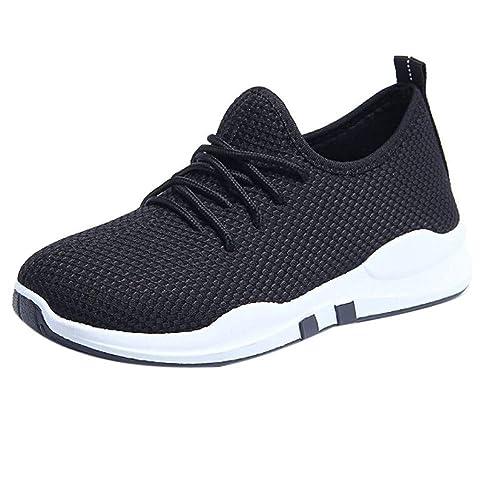 Zapatillas para Mujer,Mujeres Que corren Entrenadores encajen Piso cómodo Gimnasio Deportes Zapatos Casuales Zapatos Zapatillas de Deporte Transpirables ...