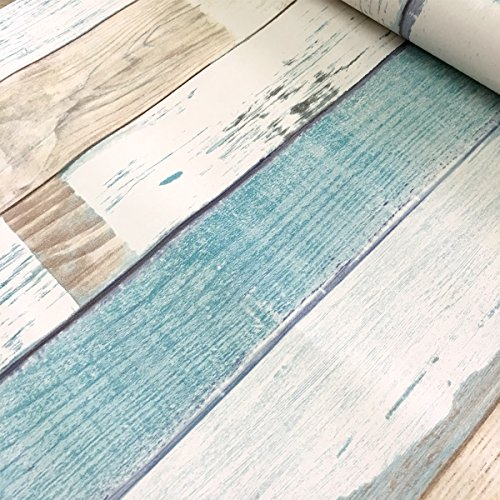 Simplelife4u Colorful Wood Grain Contact Paper Decorative