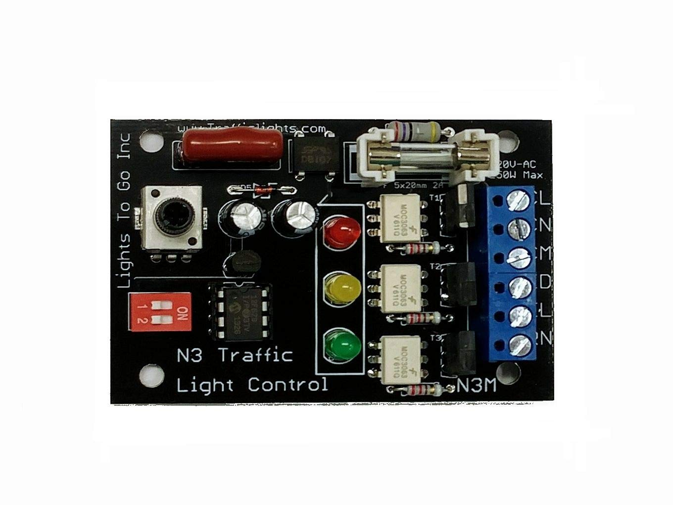 Ac Traffic Light Controller Digital Sequencer N3 3 Signal Sequential Timer Circuit Industrial Scientific