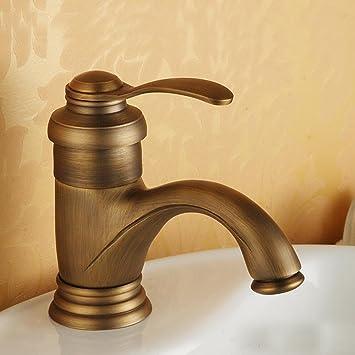 wymbs accesorios para muebles creativo decoración baño europeo antiguo cobre universal Cálido y grifo agua fría: Amazon.es: Hogar