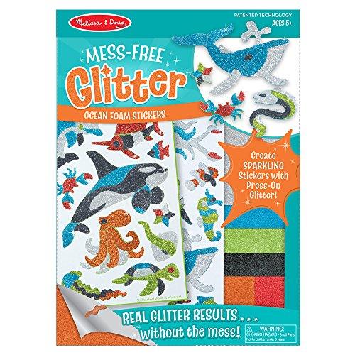 Melissa & Doug Mess-Free Glitter Ocean Foam Sticker Kit