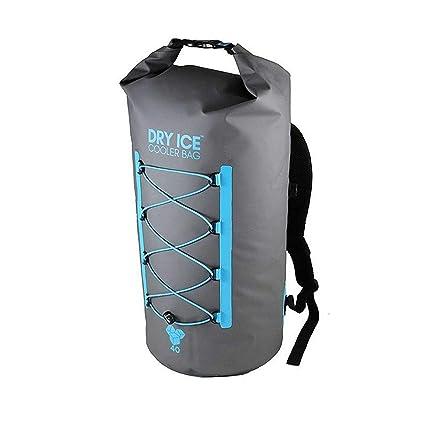 Dry Ice Cooler Mochila Nevera Portátil 40 Litros Gris Impermeable D004GRY
