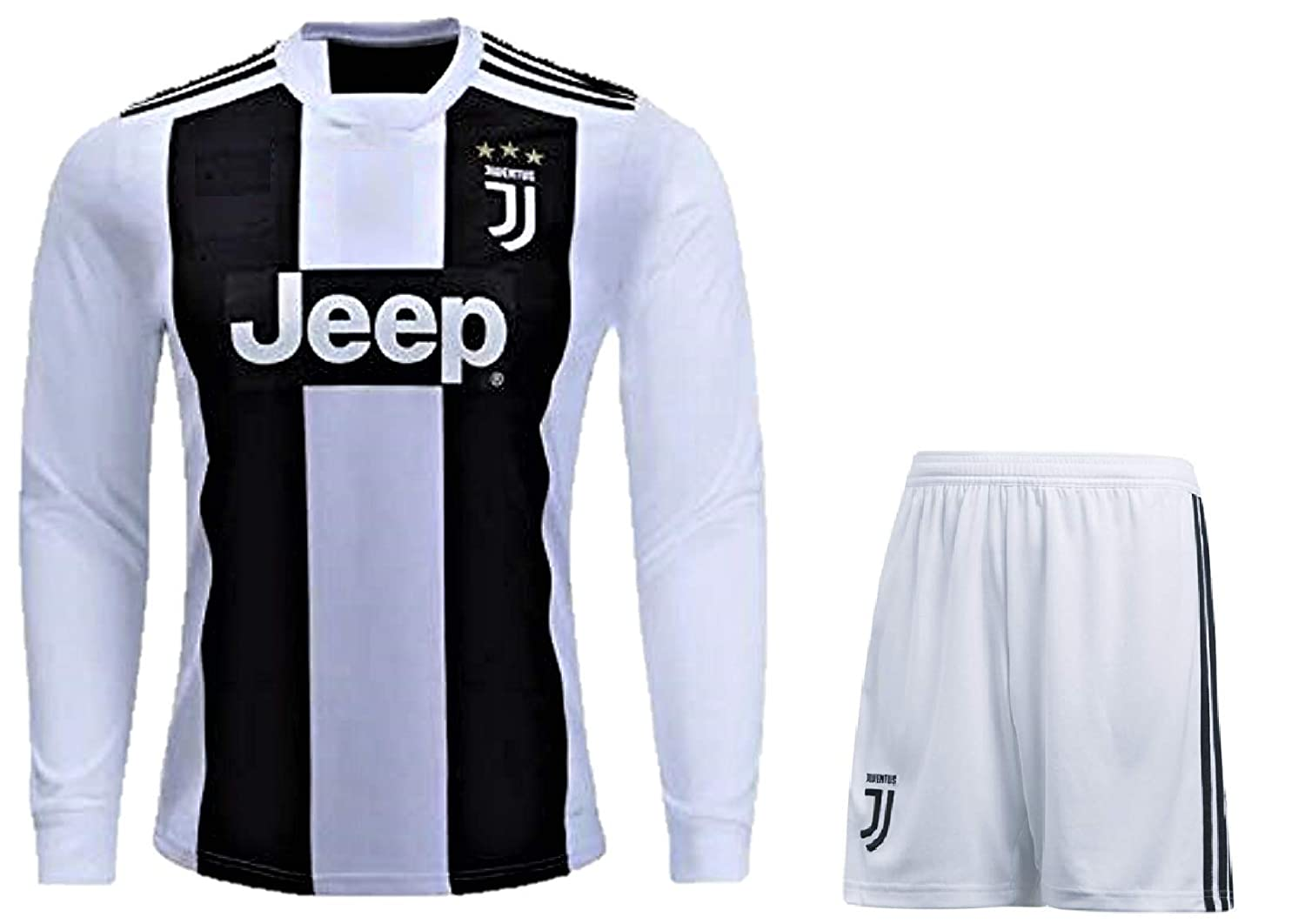 hot sale online d448b 0d6e4 HeadTurners Cristiano Ronaldo Juventus Full Sleeves Set (Jersey and Shorts)  for Kids, Boys & Mens (NonBranded)
