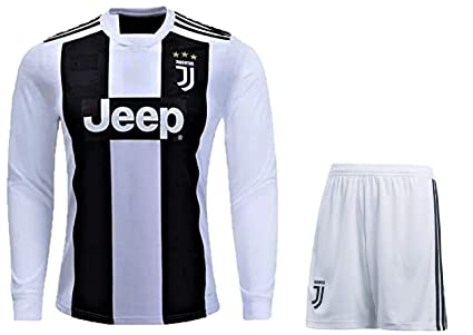 hot sale online 1f2c0 d4921 HeadTurners Cristiano Ronaldo Juventus Full Sleeves Set (Jersey and Shorts)  for Kids, Boys & Mens (NonBranded)