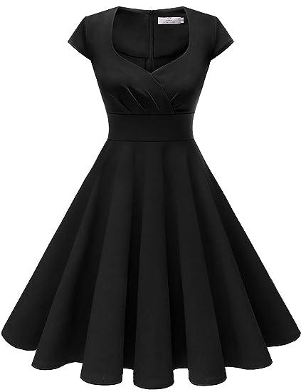 HomRain Donna Annata 1950 retrò Rockabilly Vestito cap Sleeves Audrey Swing  Abito da Cocktail Partito  Amazon.it  Abbigliamento 5721153918f