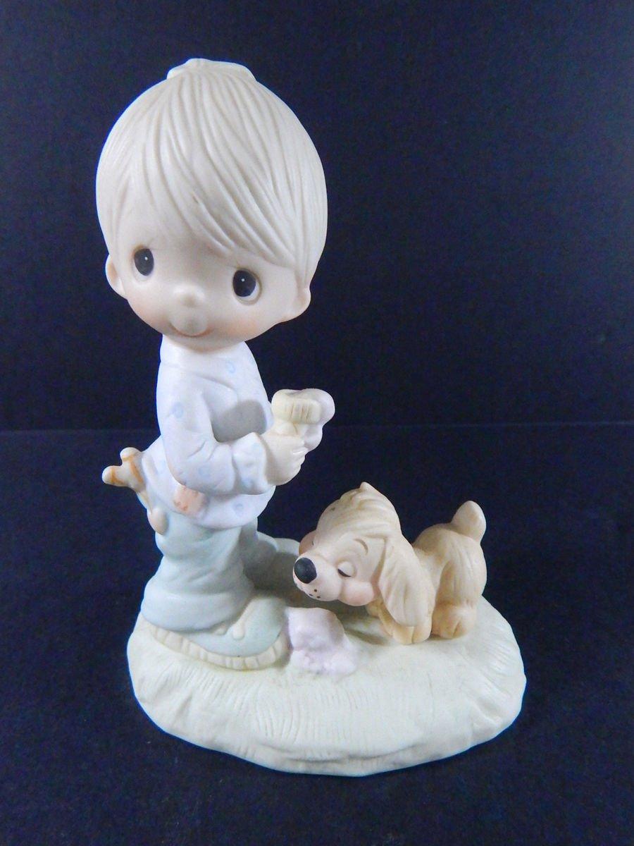 1976 Jonathon & David Precious Moments Praise the Lord Anyhow Figure Hourglass Rare 6'' Loose Figure