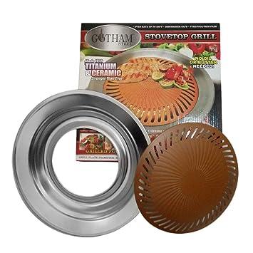 Parrilla para barbacoa, estufa coreana, estufa de interior antiadherente antiadherente Parrilla para estufa de