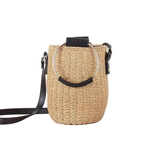 Bolsas de verano de paja de playa Las mujeres tejen los ...