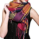 Women's Scarves Warm Long Gird Shawl Wraps Wool Large Scarf Colours