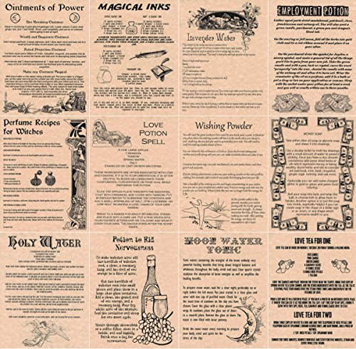 book-of-shadows-spell-pages-12-magic-potions-and-recipes-wicca-witchcraft-like-charmed-copper