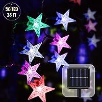 Guirnaldas Luces Exterior Solar 23FT 50 LED Cadena