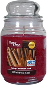 "Better Homes & Gardens "" Spicy Cinnamon "" ● Large Candle Jar ● 19 oz"