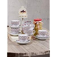 Keramika Nescafe/Çay Takımı, 6 Kişilik, 12 Parça