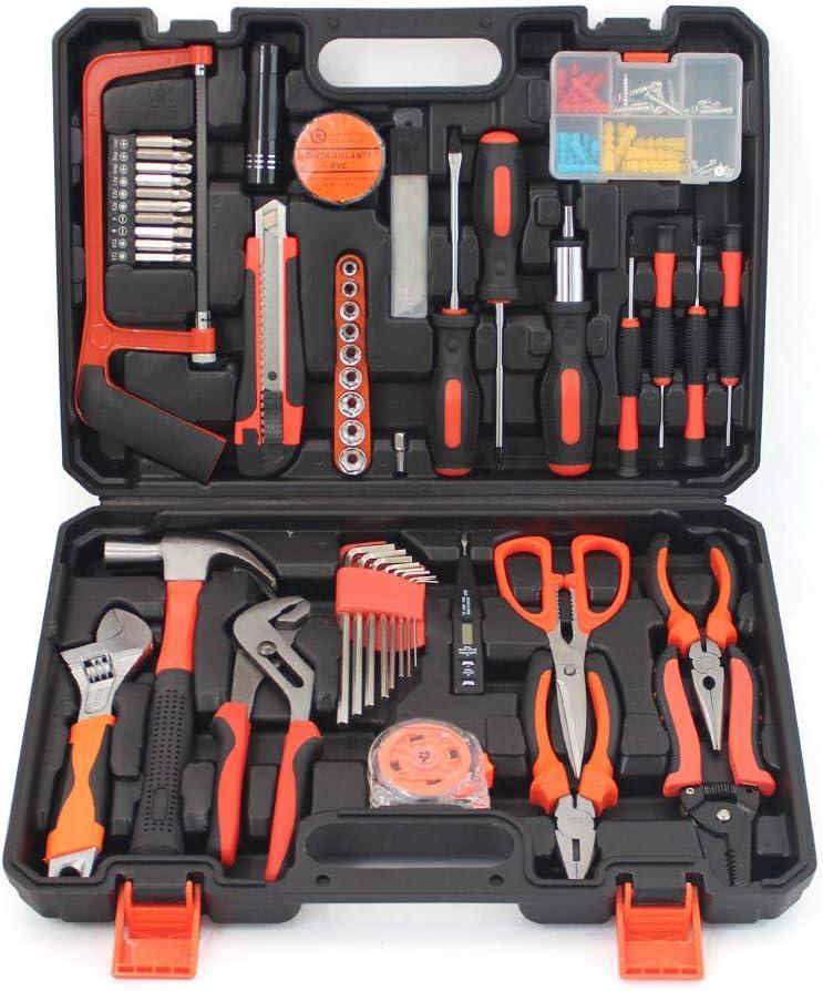 Small Household Mechanic Tool Set - 102 Piece Tool Box Set, Craftsman Basic Tool Kit, Car Tool Set, Mechanic Hand Tool Kit, Tool Kit for Home