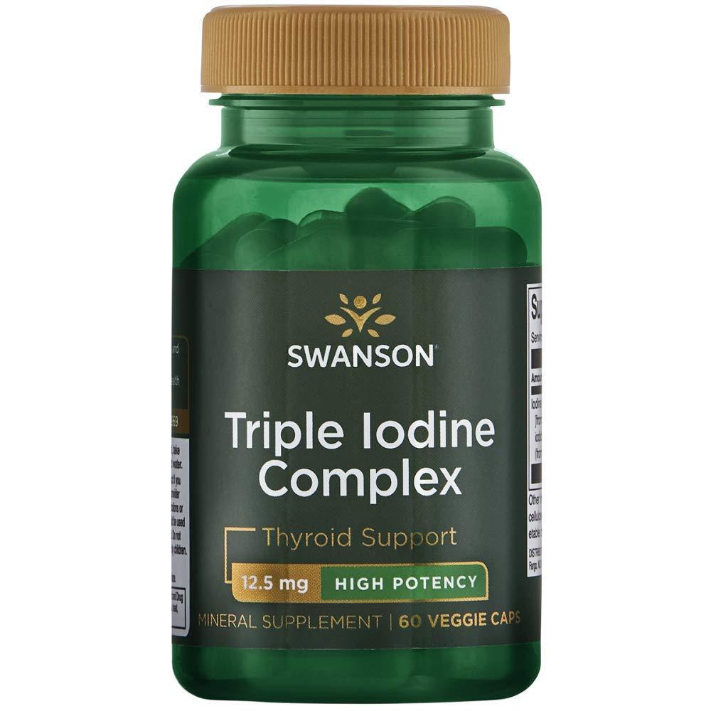 Swanson Triple Iodine Complex 12.5 Milligrams 60 Veg Capsules