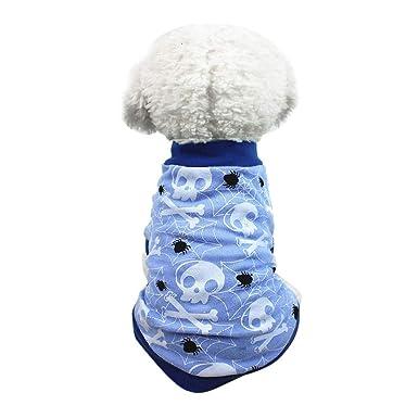 Ropa para Mascotas,Dragon868 Mascota Ropa Perro Halloween T-Shirt para Perros pequeños: Amazon.es: Ropa y accesorios