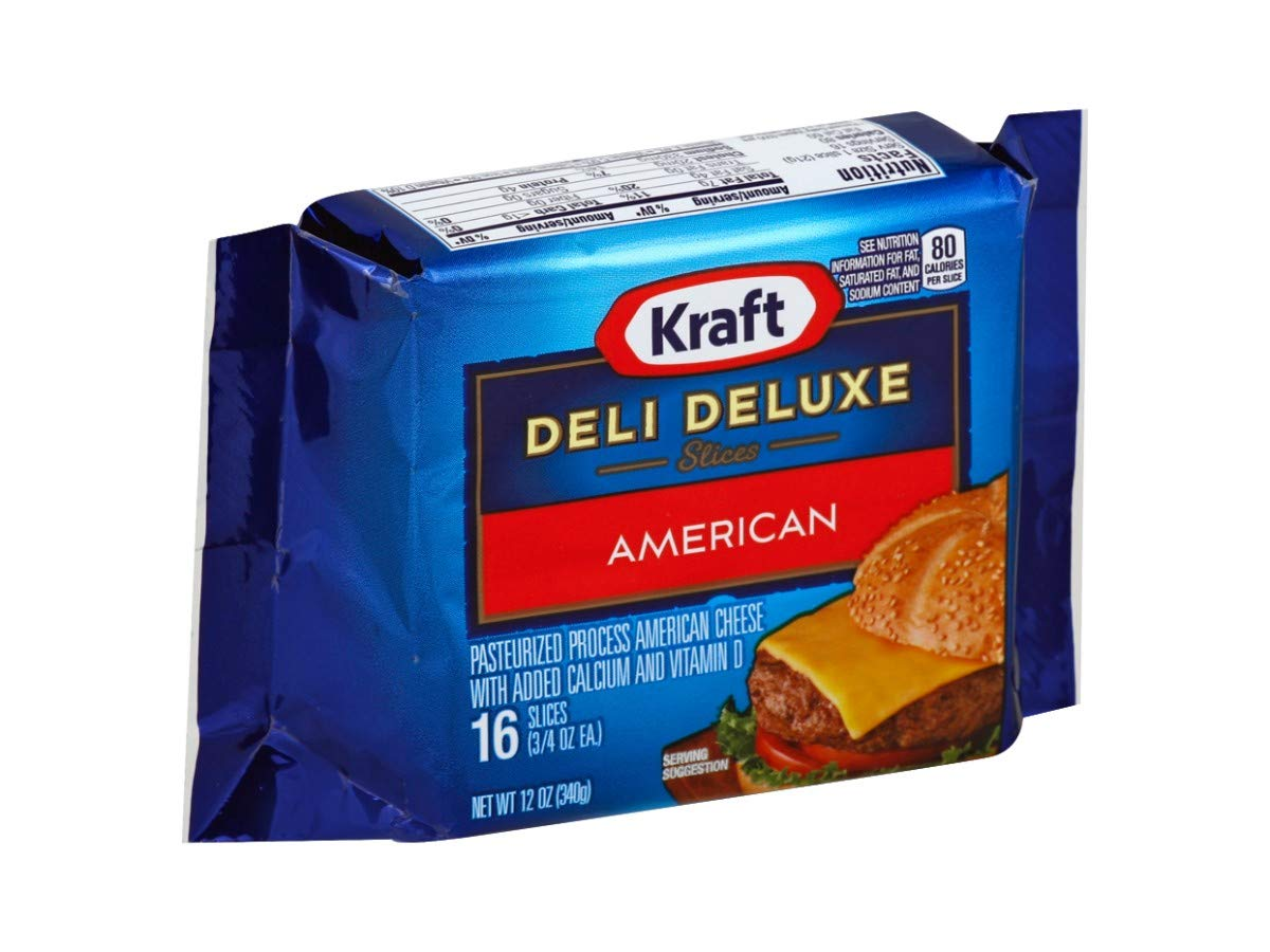 Kraft Deli Deluxe American Sliced Cheese, 12 Ounce -- 12 per case. by Kraft (Image #1)