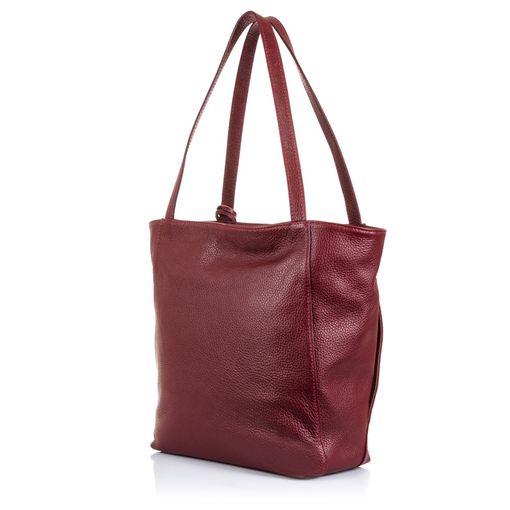 Dettagli su Shoulder Bag Borsa a Spalla da Donna in Vera Pelle Made in italy 40x36x10 Cm