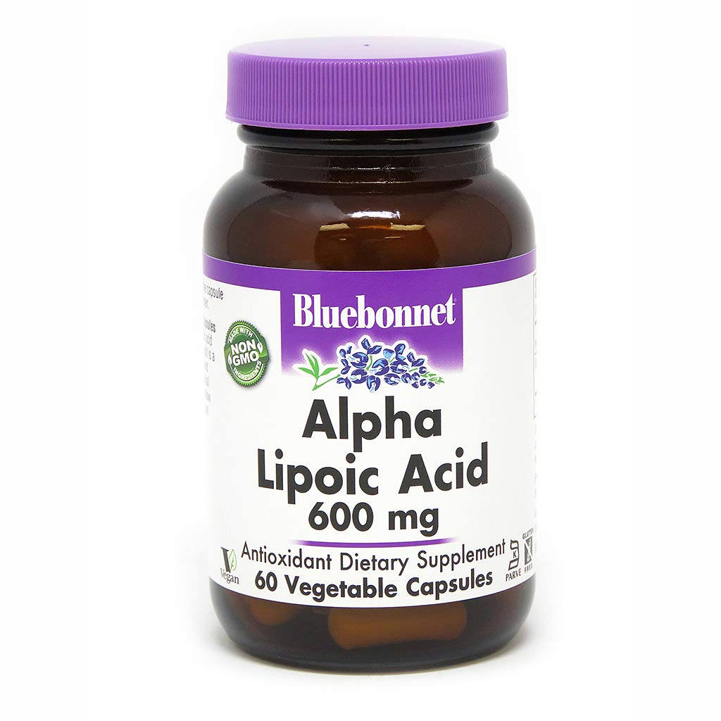 BlueBonnet Alpha Lipoic Acid Vegetarian Capsules, 600 mg, 60 Count