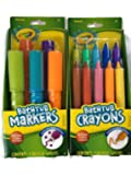 Crayola Bathtub Markers with 1 Bonus Extra Markers AND Crayola Bathtub Crayons with 1 Bonus Extra Crayons