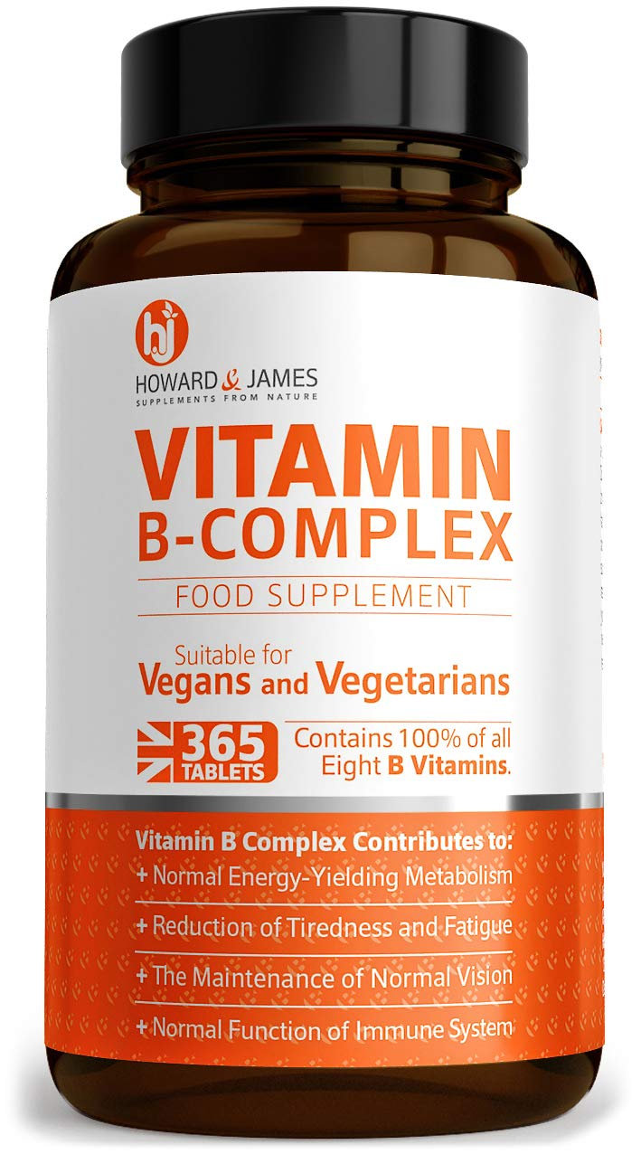 Vitamin B Complex 365 High Strength Tablets 12 Month Supply Vegetarian & Vegan