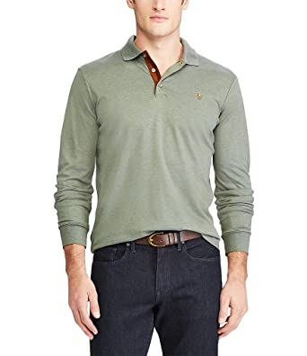 a8a85d91 RALPH LAUREN Polo Men's Classic Fit Soft-Touch Long-Sleeve Polo Shirt (Denim