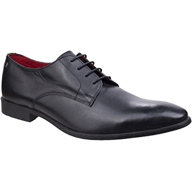 Shilling Waxy Leather Derby Shoes - Black Base London XbPUuWR4