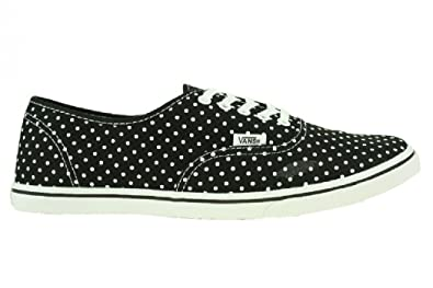 80a028429f Vans Womens Authentic Lo Pro Polka Dot Black Whtie Vn-0qes6b5 11