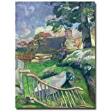 This ready to hang, gallery-wrapped art piece features a pig keeper. Paul Gauguin was a leading Post-Impressionist painter. His bold experimentation with coloring led directly to the Synthetist style of modern art while his expression of the inherent...