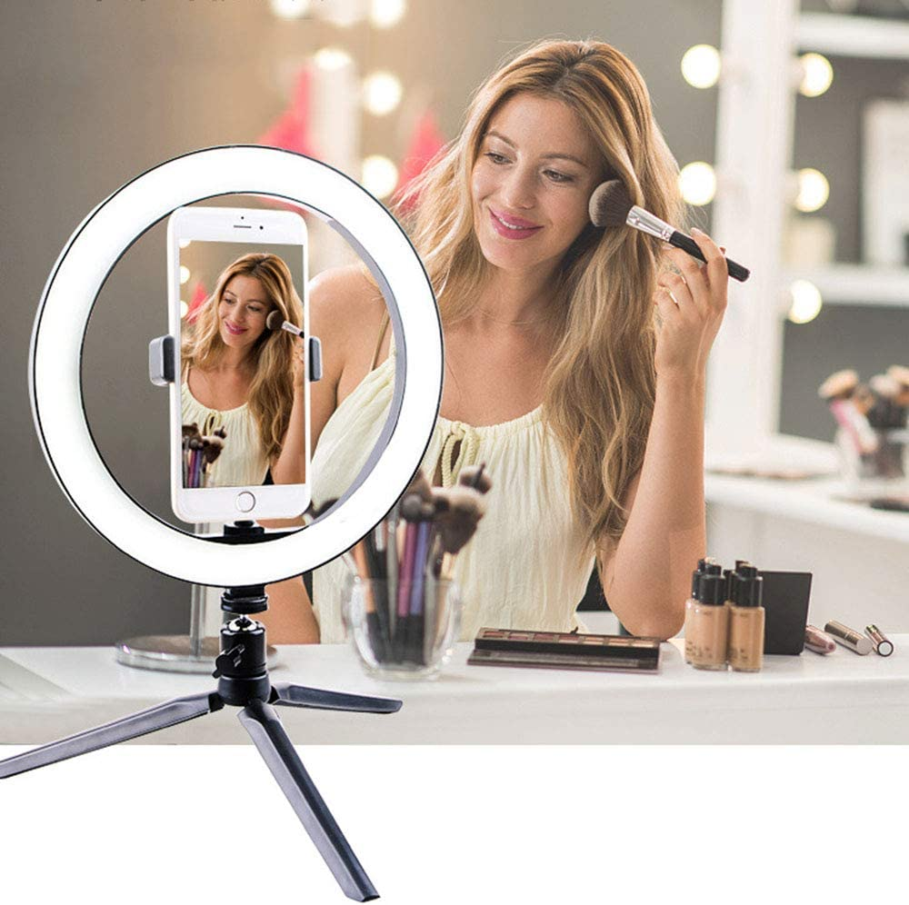 3 Color Mode 270/° Rotation for YouTube Vine Self-Portrait Video Photography,20cmlightring,c ZFD Mini Ring Light Portable Makeup Light 6 // 8 //10 Optional