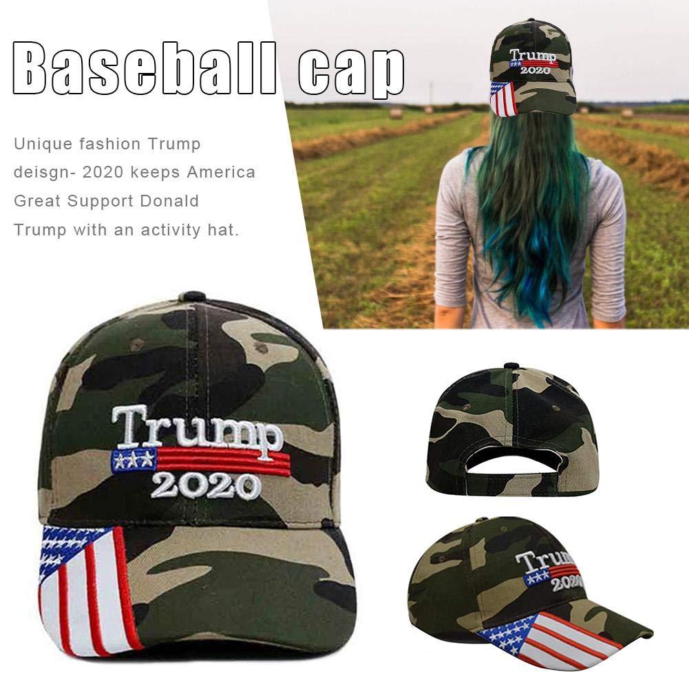 Donald Trump Cap Chapeau D/ét/é en Coton Brod/é Chapeau De Soleil Trump Creative Astounding Cathy02Marshall Trump 2020 Casquette