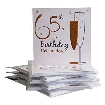 65th Birthday Party Invitations 36 Multipack Cards With Envelopes