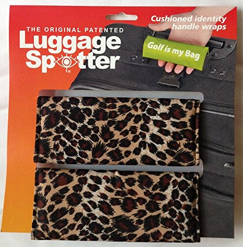 LEOPARD Luggage Spotter® Luggage Locator / Handle Grip / Luggage Grip / Travel Bag Tag / Luggage Handle Wrap (2-pack) – CLOSEOUT ON THIS PATTERN! (Travel Cheetah Luggage)