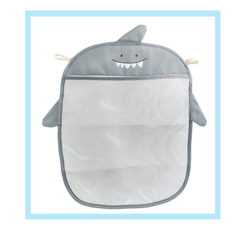 grau Yardwe Bad Spielzeug Organizer Badewanne Aufbewahrung Hai Muster Netz Badewannenspielzeug Tasche