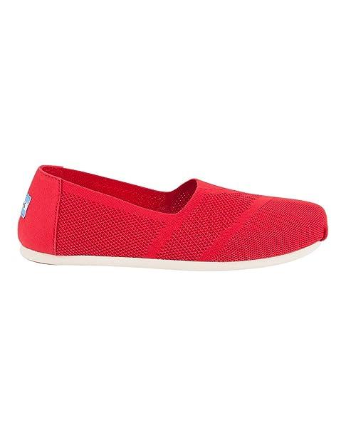 TOMS 10010820 - Mocasines para Mujer Rojo Rojo: Amazon.es: Zapatos y complementos