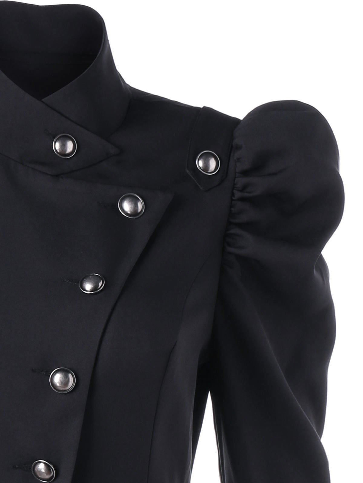 Beebeauty Gothic Vintage Womens Steampunk Victorian Swallow Tail Long Trench Coat Jacket 5