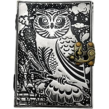 2cd2d3bad967 Fantasy Gifts Crafts and Arts 2738 Owl Lock Embossed Leather Journal 5 x 7